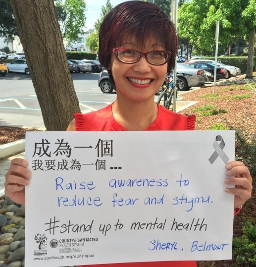 Raise awareness to reduce fear and stigma - Sheryl, Belmont