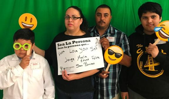 Hope, love yourself - Jorge, Maria, Edward and Felipe - San Bruno
