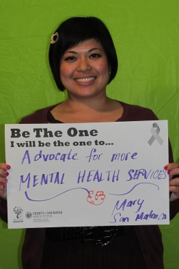 Advocate for more mental health services - Mary, San Mateo