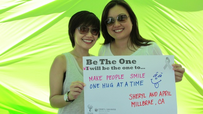 Make people smile one hug at a time - Sheryl & April, Millbrae