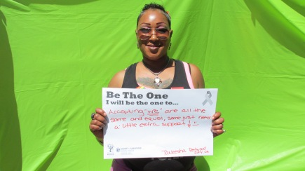 """Accepting """"we"""" are all the same and equal, some just need a little extra support - Taneesha, Redwood City"""