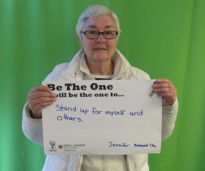 Stand up for myself and others - Jennifer, RWC