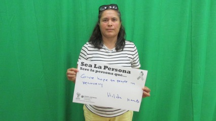 Give hope to people in recovery, Hilda, HMB