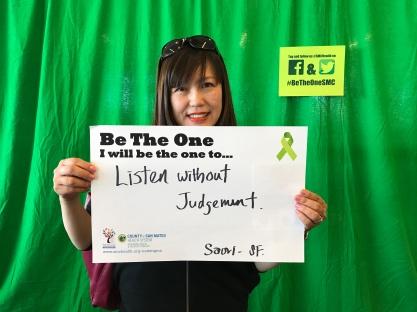 Listen without judgement - Saori, SF