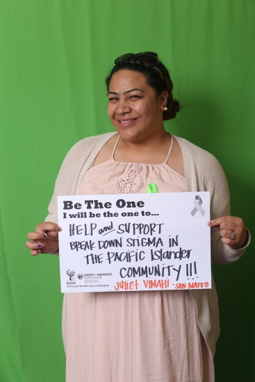 Help and support break down stigma in the pacific islander community! - Juliet Vimahi, San Mateo