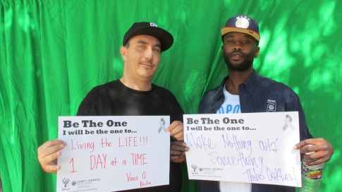 Living the life 1 day at a time - Vince, Pacifica; Make nothing outta something - Thibo, Oakland